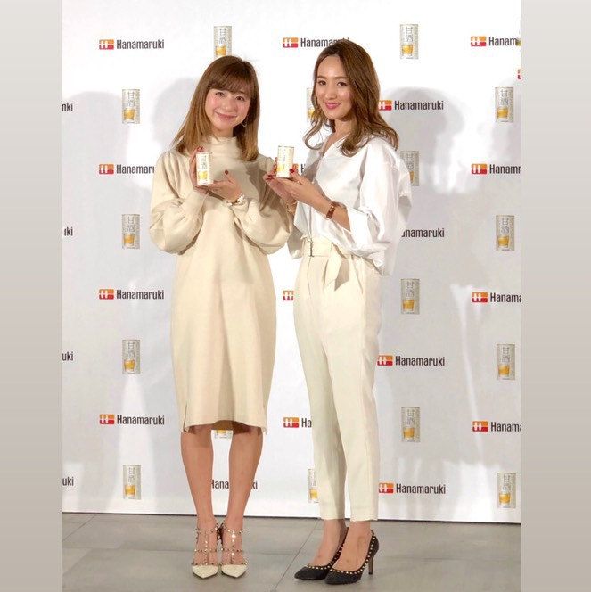 3月に発売する「透きとおった甘酒」新作発表イベントに星玲奈と水野佐彩が登壇しました🍶