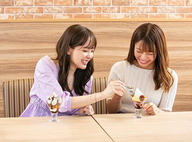 山岡葵と石倉侑芽がPeachyのガスト記事で紹介されています🍓✨🥄